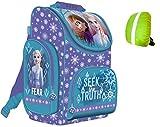 Disney Frozen Eiskönigin Schulranzen ergonomischer Ranzen Tornister Schulrucksack Schulltasche Mädchen inkl. Regenschutz