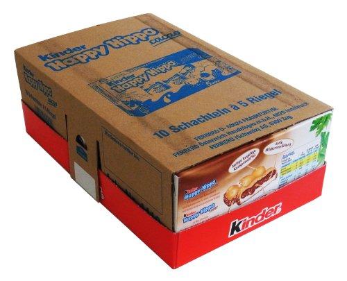 Kinder Happy Hippo Snack Cacao 5er Box, 10er Pack (10 x 100g)