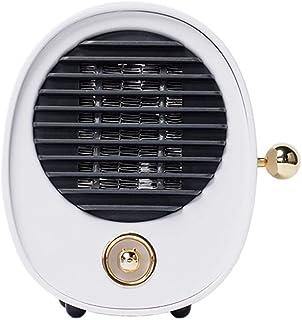 KAILUN Mini Heater Estufa Eléctrica Portatil 500 W con Termostato, Mini Estufa Eléctrica Calefactor Portátil Instant Heater con Termostato Ajustable,Blanco