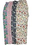 Jyoti Women's Cotton Printed Pajama (Pack of 4) (sc-246parent_Multi color_Large)
