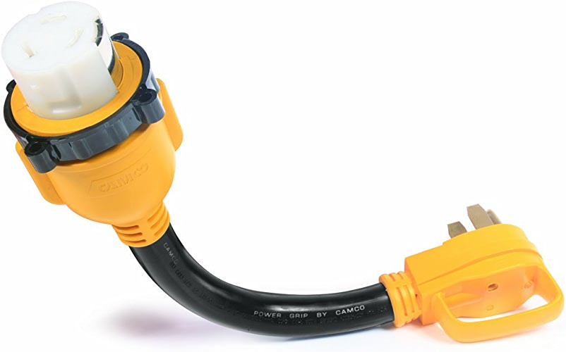 Camco 5555245,7cm 14–50–50Amp Standard PowerGrip Plug to SS2–5050Amp Adaptateur de Prise de Verrouillage