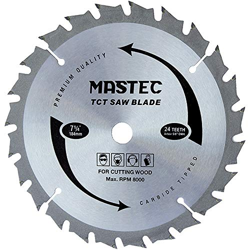 Framing Saw Blade Circular 7-1/4-Inch 24 Tooth with ATB Carbide and 5/8-Inch Diamond Knockout Arbor