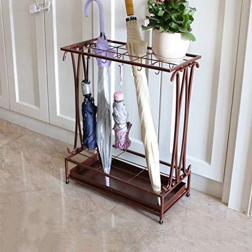 WYJW Paraplu Stand Home Convenience Store Smeedijzeren restaurant multi-gekleurde paraplu stand (18 gaten, 10 haken) (Kleur: A)