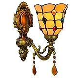 LHQ-HQ British Minimalista Creativo Espejo de baño Faros Jardín de Cristal de Noche la lámpara de Pared del Pasillo del Grano de la lámpara de Pared decoración de Tiffany Lámpara de Pared