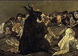 Póster con la reproducción del cuadro de Goya 'El aquelarre', parte de sus 'Pinturas negras', detallado, A3, papel satinado, demonología, brujería, misterio y magia