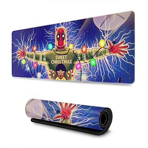 Funny Dead_Pool Vacation Gaming Mouse Pad Large Custom Mousepad Pads for Laptop Computer,12x31.5 Inch Desk Cover Computers Keyboard Stitched Edges Office Ideal Mouse Mat