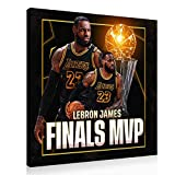 LeBron James Basketball Poster Finals Champion MVP Canvas Wall Art Print Large Size Poster (12x12inch,Canvas roll)
