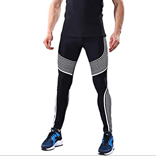 Compression Leggings for Men,Sport Tights Elasticity Quick Drying Workout Pants Training Pants Sport Pants Running Pants,B,L