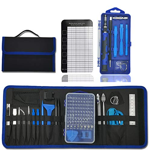 Moonlinks 137 in 1 Electronics Repair Tool Kit Precision Screwdriver Set Magnetic Professional Drive Kit with Portable Bag for Camera, Drone, Cellphone, Watch, Computer, Glasses,iPad (137 in 1)