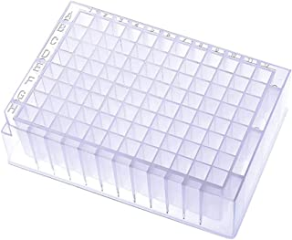 96-Well Deep Well Plates, Square Wells, Sterile,2.2mL, V Bottom,Deep Well Plates(Pack of 5)