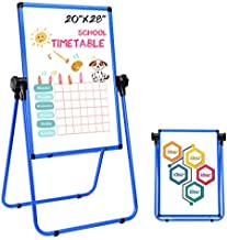 Magnetic Easel Dry Erase Board Portable U-Stand Whiteboard Height Adjustable Rotating Foldable 20x28 Inches, for Home Office School Outdoors (Blue)
