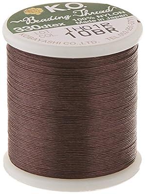 K.O. XCR-9719 50m Japanese Nylon Beading Thread for Delica, Brown