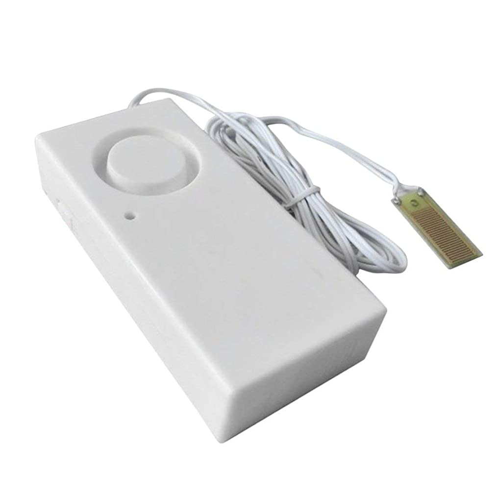 白内障頼る表示水オーバーフロー漏れ警報センサー検出器120dB水位警報ホームセキュリティ警報システム作業単独(白)