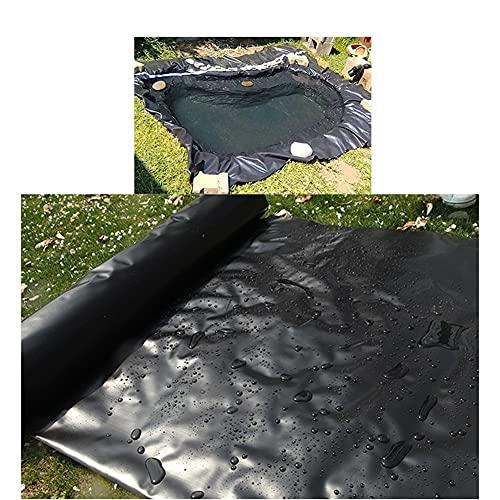 YJFENG HDPE Caucho Revestimiento De Estanque, Tarea Pesada Impermeable Impermeable Membrana, Tela para Estanques De Peces Corrientes Fuentes (Color : Black, Size : 2x4m)