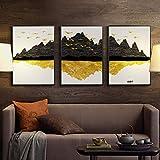 HULINJI Leinwanddrucke Wohnzimmer-Hintergrund-Wand-Feng Shui dekoratives Malerei-Fahnen-Büro-Zusammenfassungs-Wandgemälde