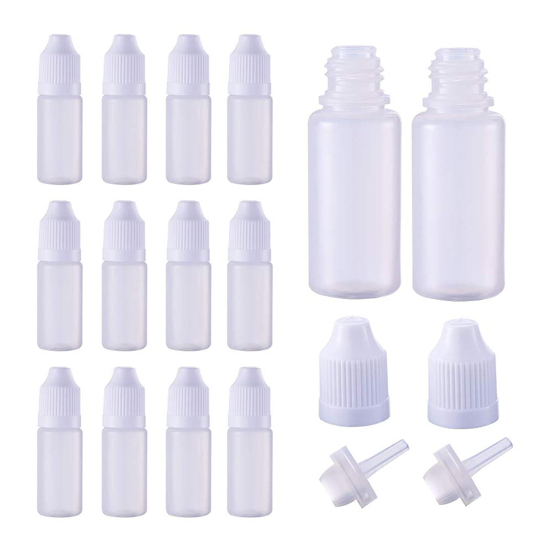 別れる開拓者おびえたBENECREAT 50個セット 10mlドロッパーボトル プラスチック製 いたずら防止蓋つき 液体貯蔵用 点眼剤ボトル アロマボトル 分け詰め ホワイト蓋