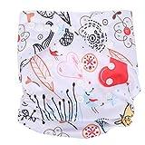 Pañal de tela para bebé ajustable reutilizable lavable pañal infantil impermeable recién nacido...