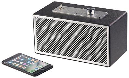 auvisio Aktivlautsprecher: Mobiler Retro-Lautsprecher mit Bluetooth 4.1 und AUX-Eingang, 20 Watt (Lautsprecher Stereo, Bluetooth)