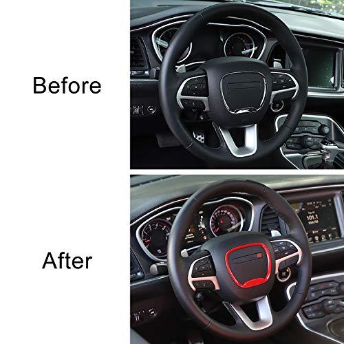 for 2015-2020 Dodge Challenger Charger for Jeep Grand Cherokee SRT8 Voodonala Steering Wheel Trim ABS Orange 1pc for 2014-2020 Dodge Durango