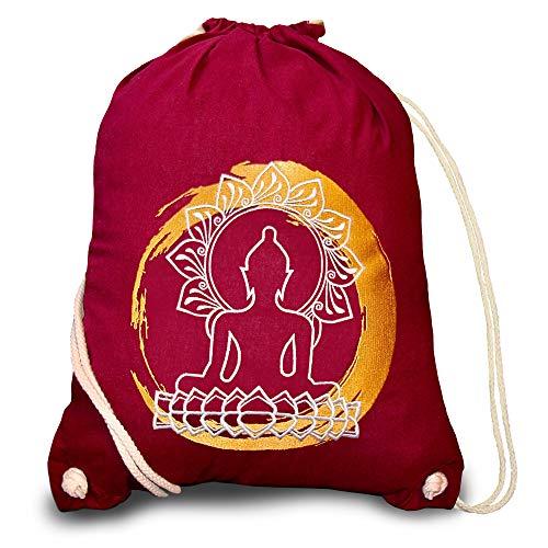 Turnbeutel Baumwolle Yoga Hipster Vintage Rucksack Damen Mandala Gym Bag Man Women Herren Sportbeutel Mädchen Junge Beuteltasche Backbag Cool Bag Thailand Geschenke Feng Shui Deko asiatisch Buddha
