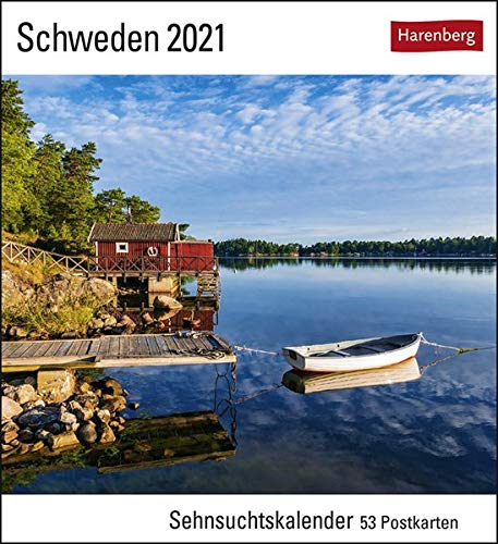 Schweden Sehnsuchtskalender 2021 - Postkartenkalender mit Wochenkalendarium - 53 perforierte Postkarten zum Heraustrennen - zum Aufstellen oder ... x 17,5 cm: Sehnsuchtskalender, 53 Postkarten