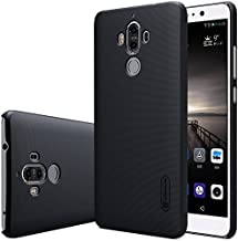 Huawei Mate 9 Case, Nillkin Frosted Shield Matte Plastic Ultra Thin Slim Light Fit Case, Shockproof Shell Anti-Scratch Anti-Fingerprint Cover with Screen Protector (Black