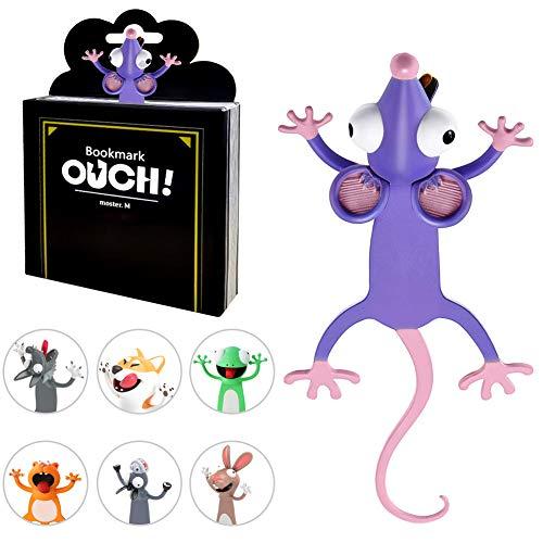 3D Cartoon Tier-Lesezeichen,lesezeichen kinder,lesezeichen magnetisch,bookmark animal,3D Stereo Cartoon schön Tier Lesezeichen Geschenk für Kinder und Erwachsene (B)