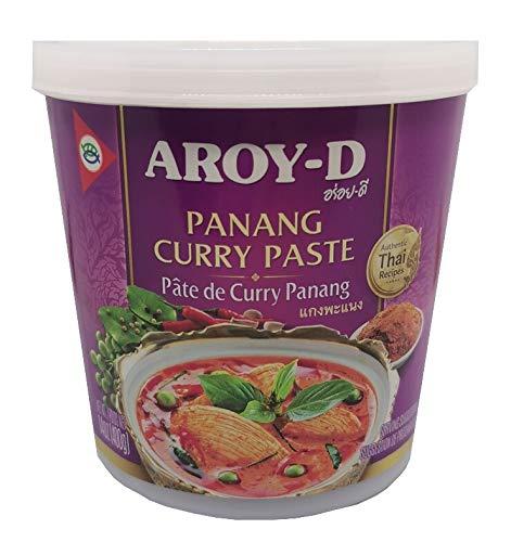 Aroy-D Currypaste Panang, sehr scharf, authentisch thailändisch Kochen, natürliche Zutaten, vegan, halal und glutenfrei, (1x400g)