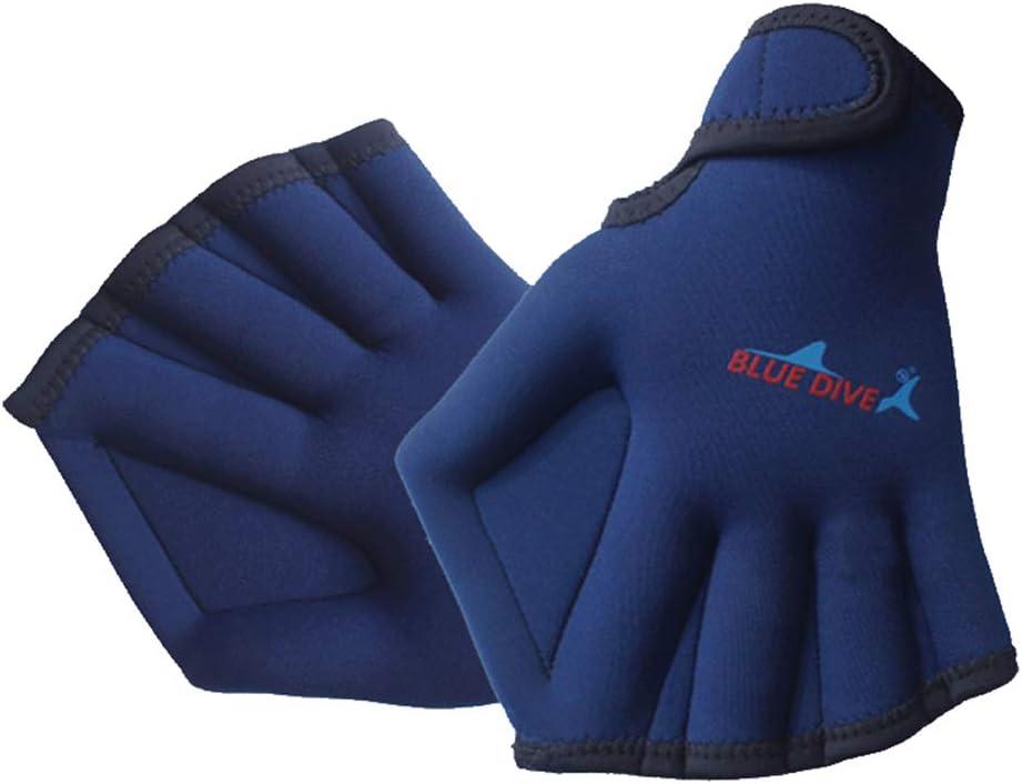 Skyoo 1 Paire de Gants de Natation dentra/înement r/ésistants /à leau Palmes pour Les Mains Gants de Natation 7.87 * 6.3inch Noir