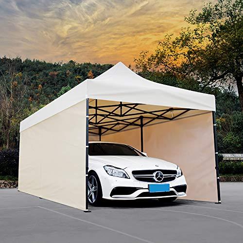 ZDYLM-Y Outdoor Carport Car Canopy mit Einstellbarer Höhe, wasserdichter Baldachin Zelt Shelter Storage mit Seitenwänden, für Party, Hochzeit,3x3m