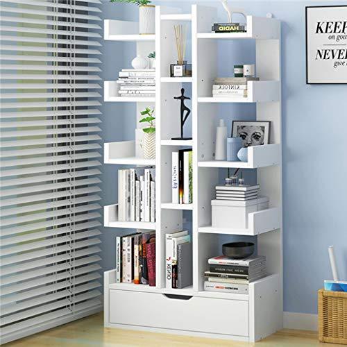KKCD - Scaffale libreria Libreria - Librerie per Scaffali di Legno con Mensole Aperte per Soggiorno O Ufficio in Un Design Moderno (Color : E)