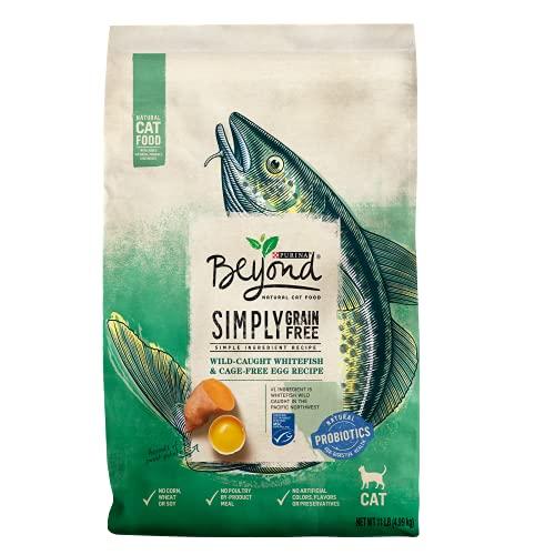 Purina Beyond Grain Free, Natural Dry Cat Food, Simply Grain Free Ocean Whitefish & Egg Recipe - 11 lb. Bag
