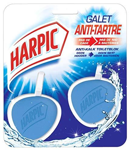 Harpic Pack de 2 Blocs WC Nettoyant Galet Hygiène Antitartre - 40g x 2 pièces