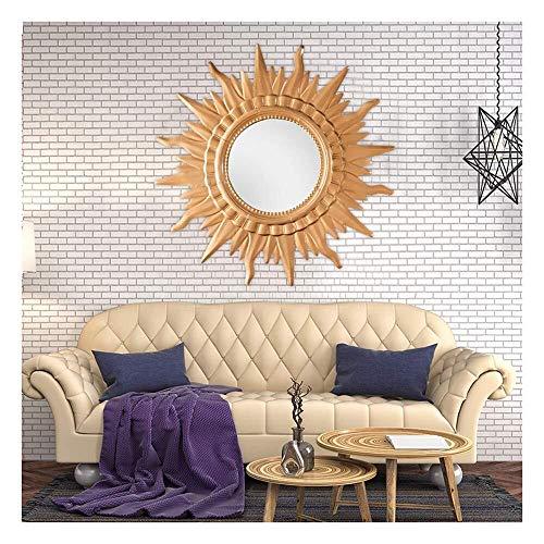 Creatieve decoratieve spiegel Europese 3D Stereo Sunburst Decorative Wall Mirror, Wall spiegel, slaapkamer, woonkamer, een grote Metal Eetkamer, Gang Veranda Ronde Opknoping Mirror Wandgemonteerde gro
