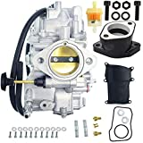 New YFM350 Carburetor+Intake Manifold For Yamaha Warrior 350 YFM350 X 1987-2004 ATV Quad Carb Hand Choke