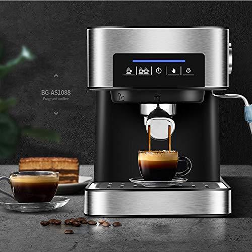 DW007 Cafetera Express para Espresso Y Cappucino 850W 20 Bares Vaporizador Orientable Capacidad 1.5L Café Molido Y Monodosis 270X234x292mm