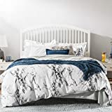 <span class='highlight'><span class='highlight'>Bedsure</span></span> 100% Cotton Duvet Cover Set King Size - 3 pcs Marble Bedding Set with 2 Pillowcases, Black & White, 230x220cm