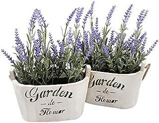 Heart To HeartButterfly Craze Purple Silk Floral Arrangements Faux Lavender Flower Plant..