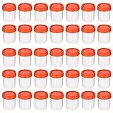 HEALLILY Taza de Muestra de 50 Piezas Taza de Almacenamiento de Orina de 40 Ml Recipiente de Muestra Sellado de Prueba para Laboratorio (Color Aleatorio)
