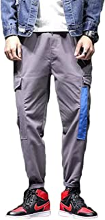 Cargo Coulisse Laterali Con Tasche Qitunc Pants Sport Casuale Trousers Pantaloni E Uomo jRAL345