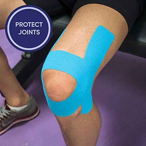 KG Physio Kinesiologie tape 5cm x 5m Rolle ungeschnittenes Kinesiotape – Bei den Bildern handelt es sich um exakte Produktfotos für eine genaue Farbdarstellung (Hellblau) - 4