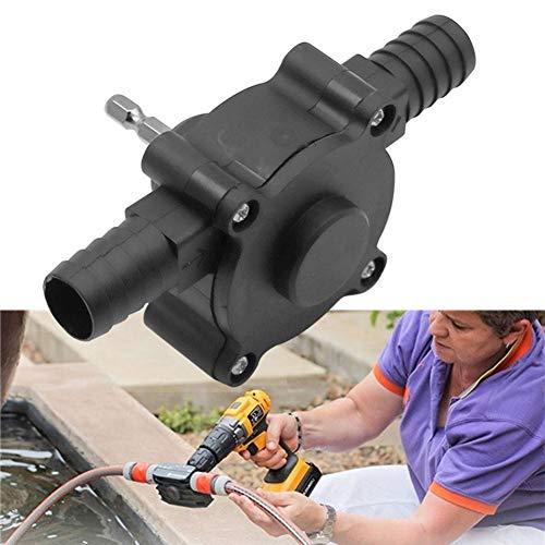 2ST Miniatur Selbstansaugend Förderpumpe, Luftpumpe elektrische Bohrmaschine Antriebspumpe Öl-Wasser-Flüssig Zwei Anschlüsse für Bohrfutter