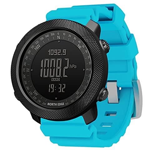 XIYAN Reloj para Hombre Al Aire Libre, Reloj Digital Impermeable De 50 M, Deportes, Correr, Nadar, Relojes Inteligentes Multifuncionales, Regalo De Festival De Cumpleaños para Hombres,Azul
