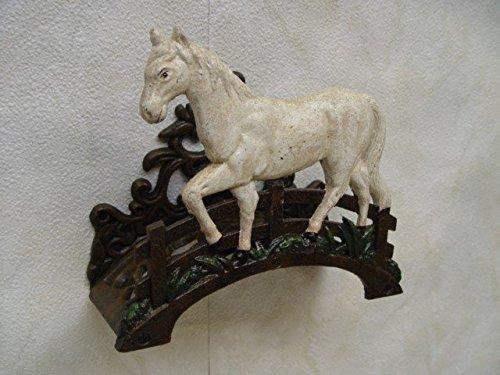 Luxe Pur UG wit paard stute slanghouder tuinslang houder haak gietijzer decoratie