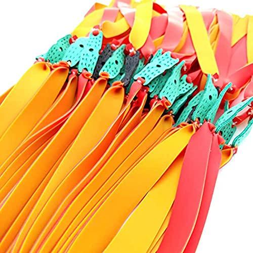 Gomas para Tirachinas Profesional, Bandas De Goma De Repuesto para Tirachinas, Latex Natural Antideslizantes Duraderas Banda De Goma Plana Elástica para Tirachinas Caza, 10 Tiras