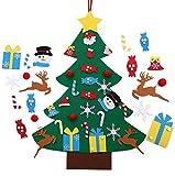 Fieltro Árbol de Navidad, Árbol de Navidad DIY con 24 Luces Unids Adornos Navidad Decoración Colgante para Niños arbol de Navidad Cafe Hotel casa decoración (24Pcs)