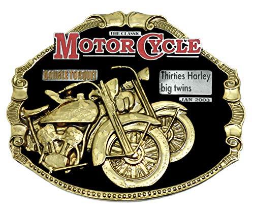 Harley Davidson riem gesp jaren dertig grote tweelingen zwart & goud ontwerp Authentieke Officieel gelicenseerde draak ontwerpen merkproduct