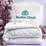 SLUMBER CLOUD Cumulus Comforter - NASA Temperature Regulation Technology - Down Alternative Cooling Comforter - Hypoallergenic (Queen, Comforter)