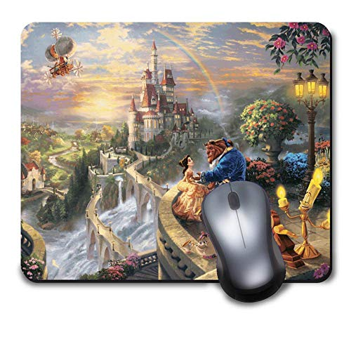 Mouse Pad Disney Beauty and The Beast Mousepad Non-Slip Rubber Funny Cute Mat for Gaming and Gift