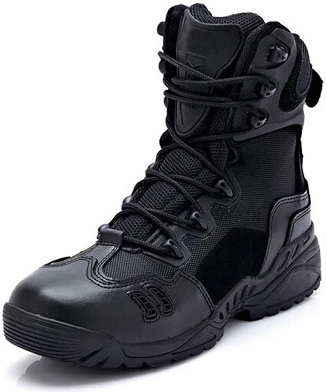 Hope Stivale tattico da Uomo High-Top Outdoor Desert Combat stivali Sicurezza Pattuglia Cadet Stivali da Trekre di Sicurezza da Trekre